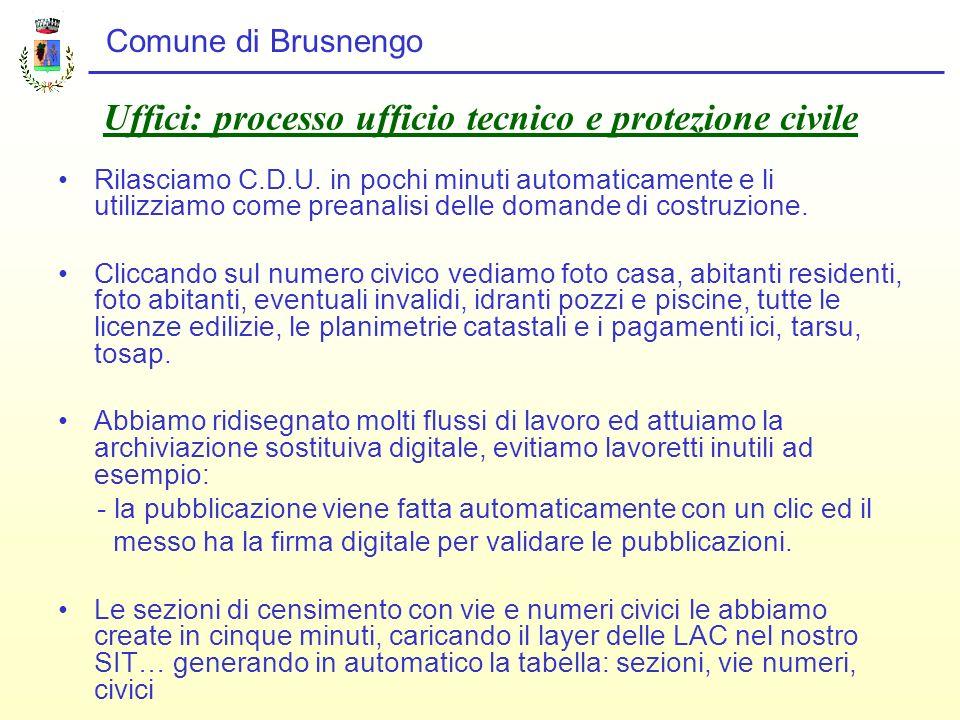 Comune di Brusnengo Organizzazione Abbiamo unapplicazione di business intelligence e teniamo sotto controllo in modo automatico il bilancio e la cassa che in 12 anni non è mai andata in negativo….