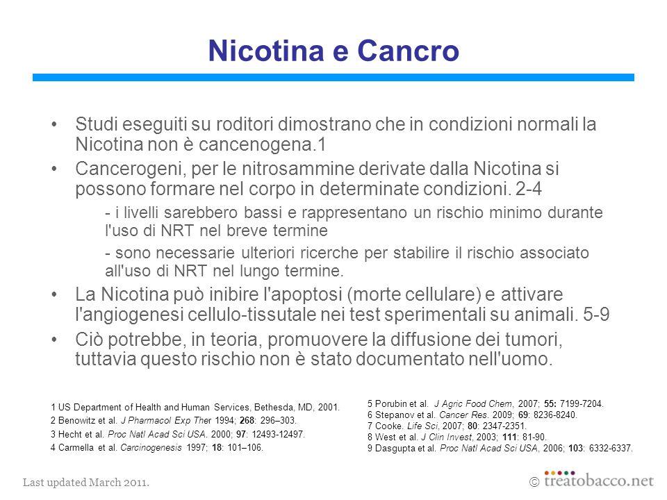 Last updated March 2011.1 NCI Monograph 13. 2001.5 Bernert et al.