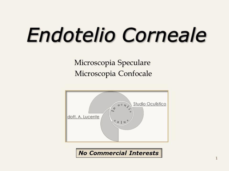 Microscopia Speculare Microscopia Confocale Microscopia Confocale 1 No Commercial Interests