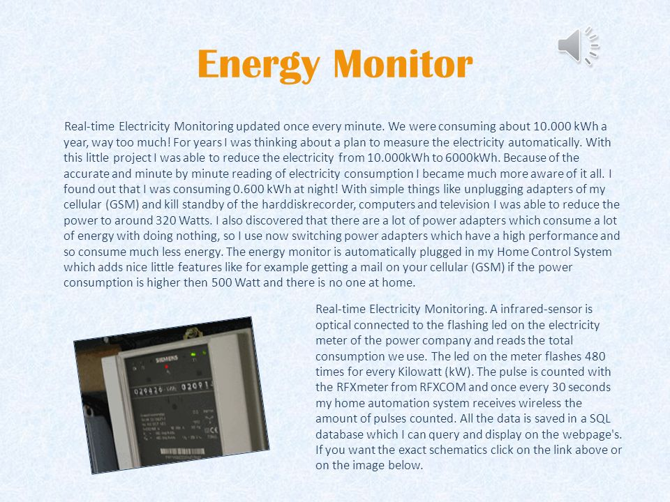 Energy Monitor Real-time Electricity Monitoring updated once every minute.