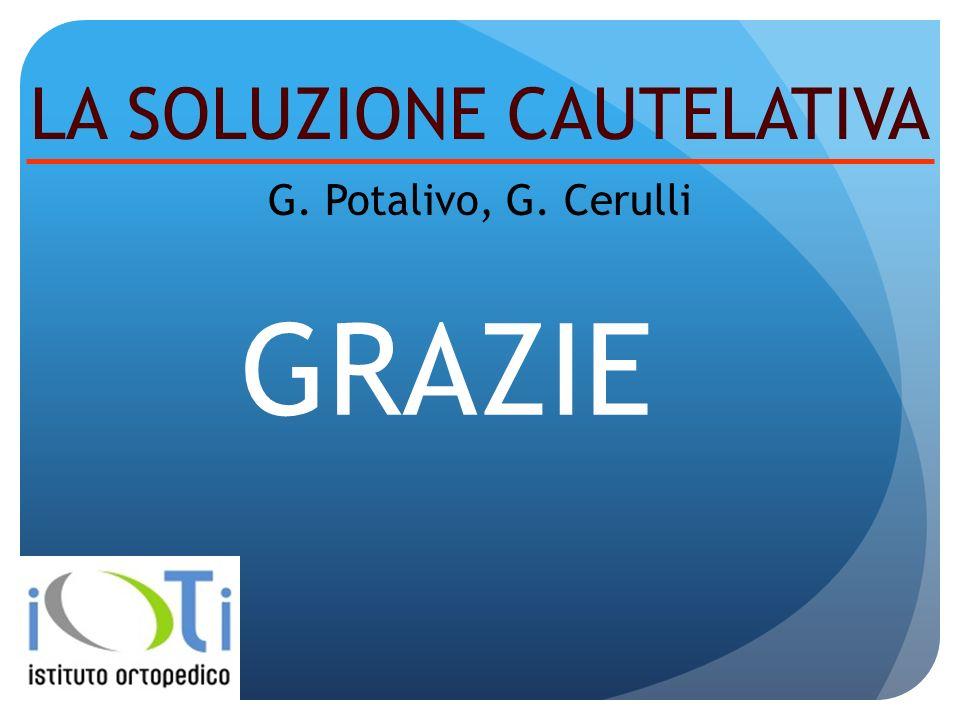 GRAZIE LA SOLUZIONE CAUTELATIVA G. Potalivo, G. Cerulli
