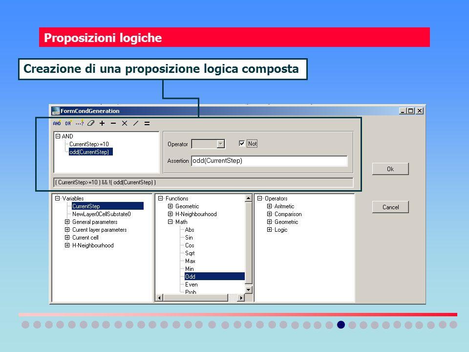 Proposizioni logiche Creazione di una proposizione logica composta