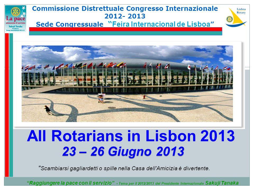 Commissione Distrettuale Congresso Internazionale 2012- 2013 Sede Congressuale Feira Internacional de Lisboa Feira Internacional de Lisboa Raggiungere