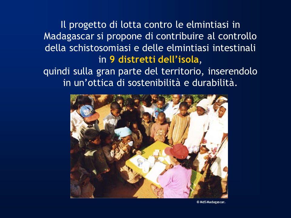 Il progetto di lotta contro le elmintiasi in Madagascar si propone di contribuire al controllo della schistosomiasi e delle elmintiasi intestinali in