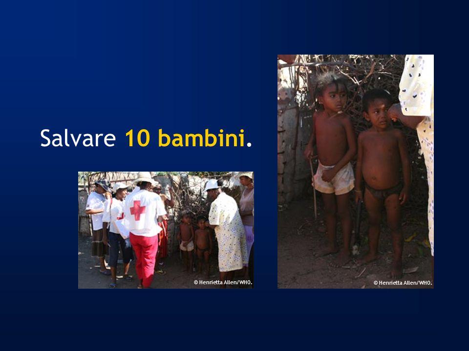 Salvare 10 bambini. © Henrietta Allen/WHO.