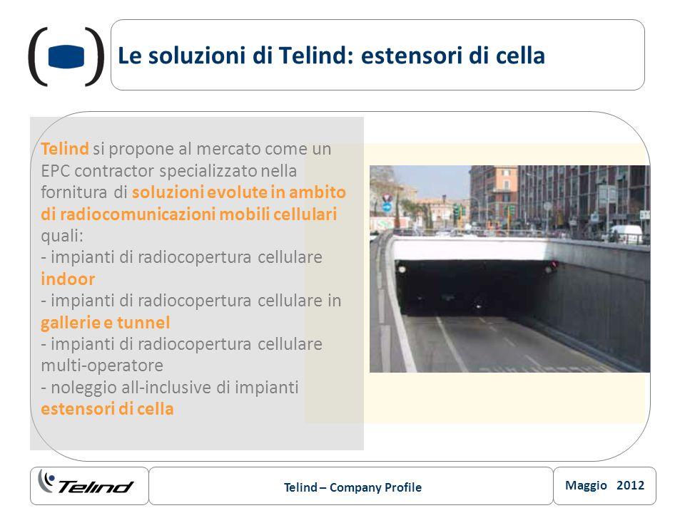 Maggio 2012 Telind – Company Profile Le soluzioni di Telind: estensori di cella Telind si propone al mercato come un EPC contractor specializzato nell