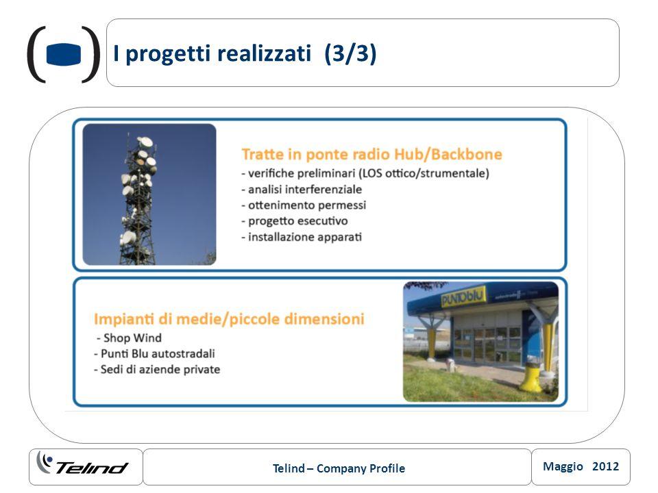 Maggio 2012 Telind – Company Profile I progetti realizzati (3/3)