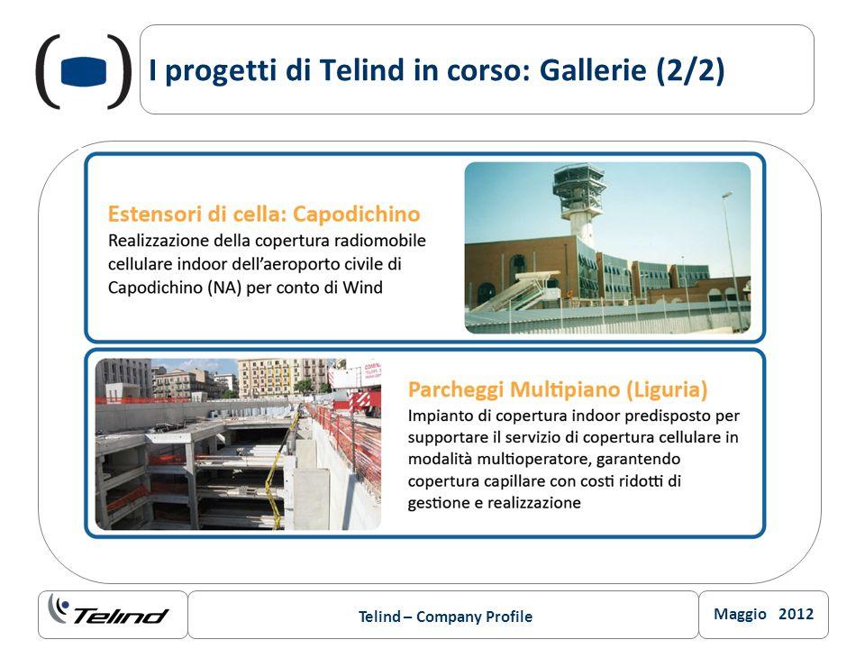 Maggio 2012 Telind – Company Profile I progetti di Telind in corso: Gallerie (2/2)