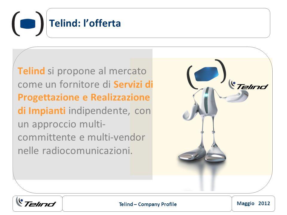 Maggio 2012 Telind – Company Profile Telind: lofferta Telind si propone al mercato come un fornitore di Servizi di Progettazione e Realizzazione di Im
