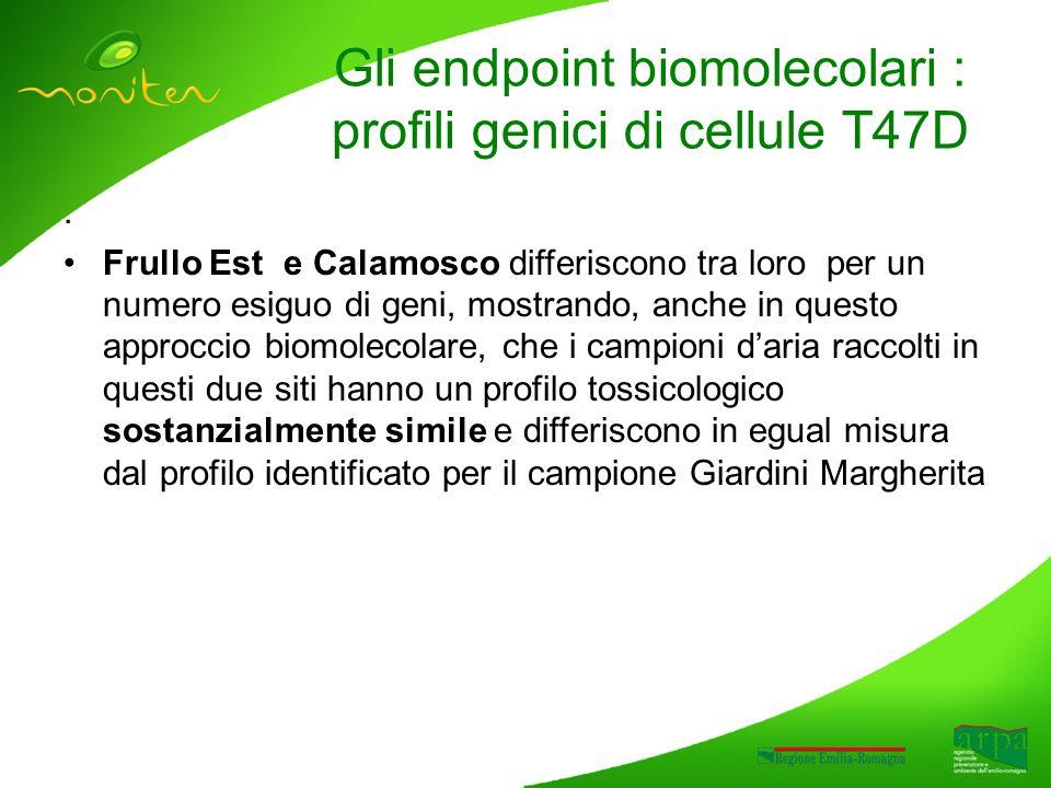 . Frullo Est e Calamosco differiscono tra loro per un numero esiguo di geni, mostrando, anche in questo approccio biomolecolare, che i campioni daria