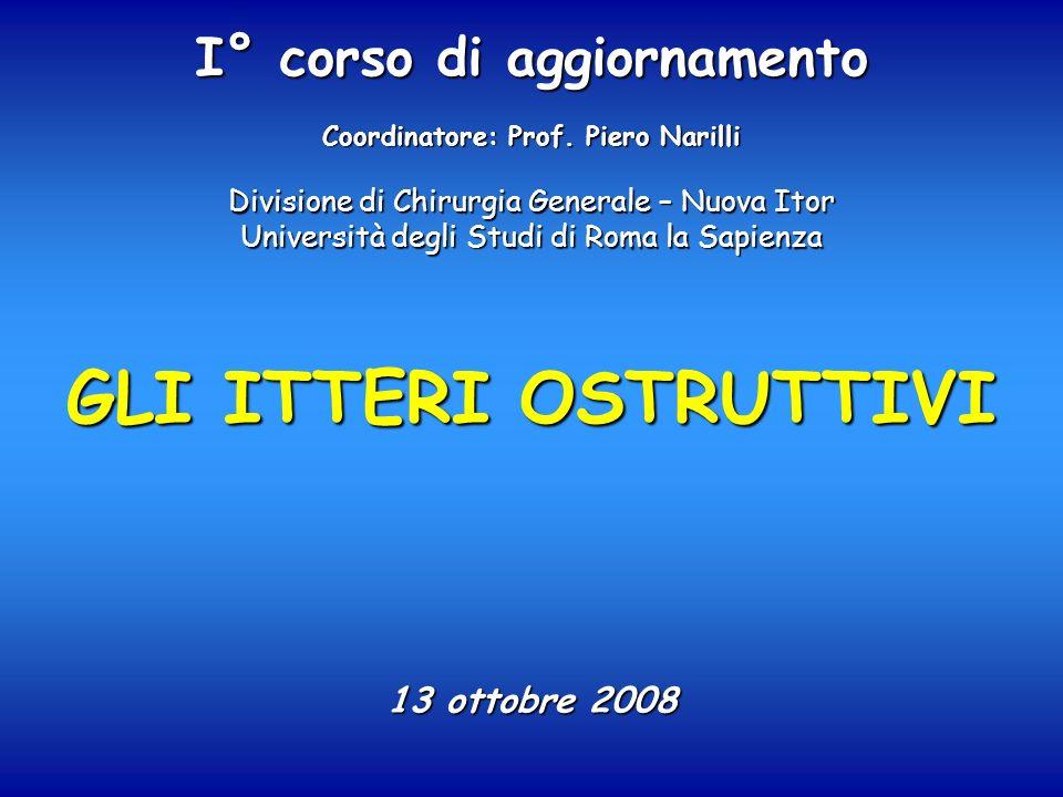 GLI ITTERI OSTRUTTIVI 13 ottobre 2008 I° corso di aggiornamento Coordinatore: Prof. Piero Narilli Divisione di Chirurgia Generale – Nuova Itor Univers