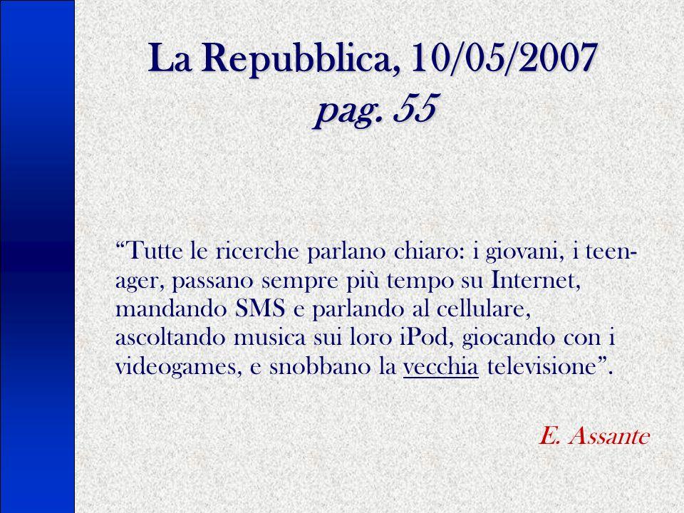 La Repubblica, 10/05/2007 pag.