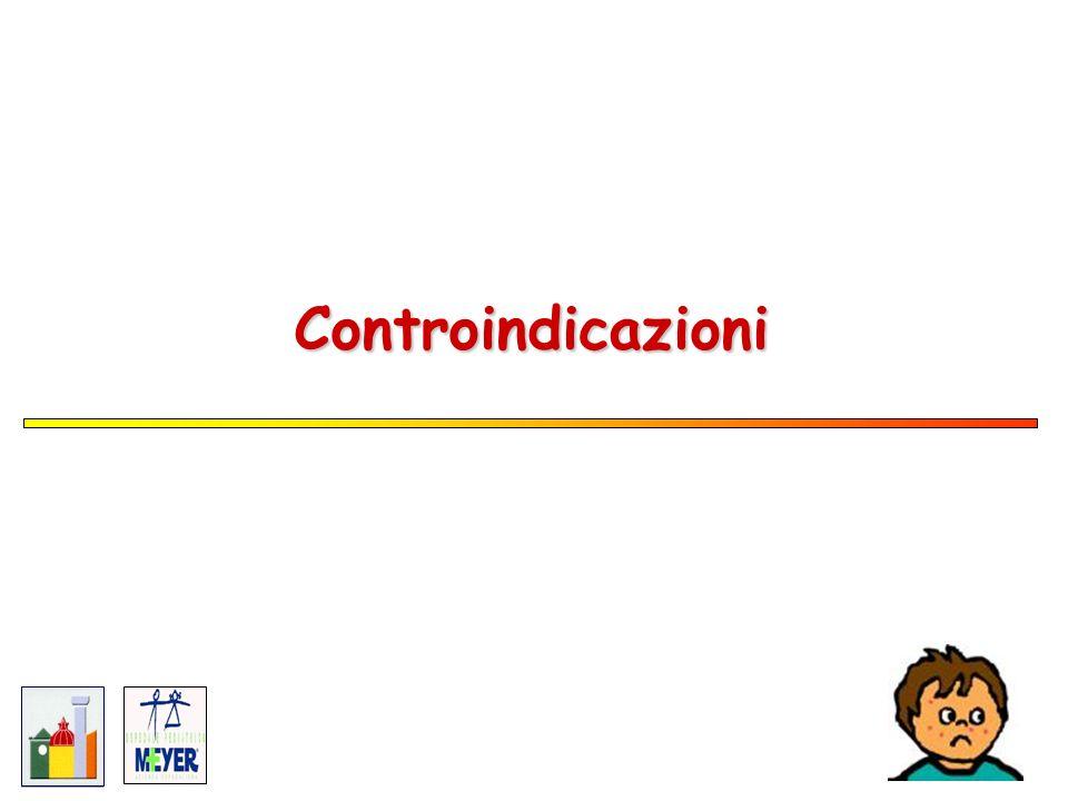 PER OGNI VACCINO… Controindicazioni permanenti -reazione allergica grave (es.