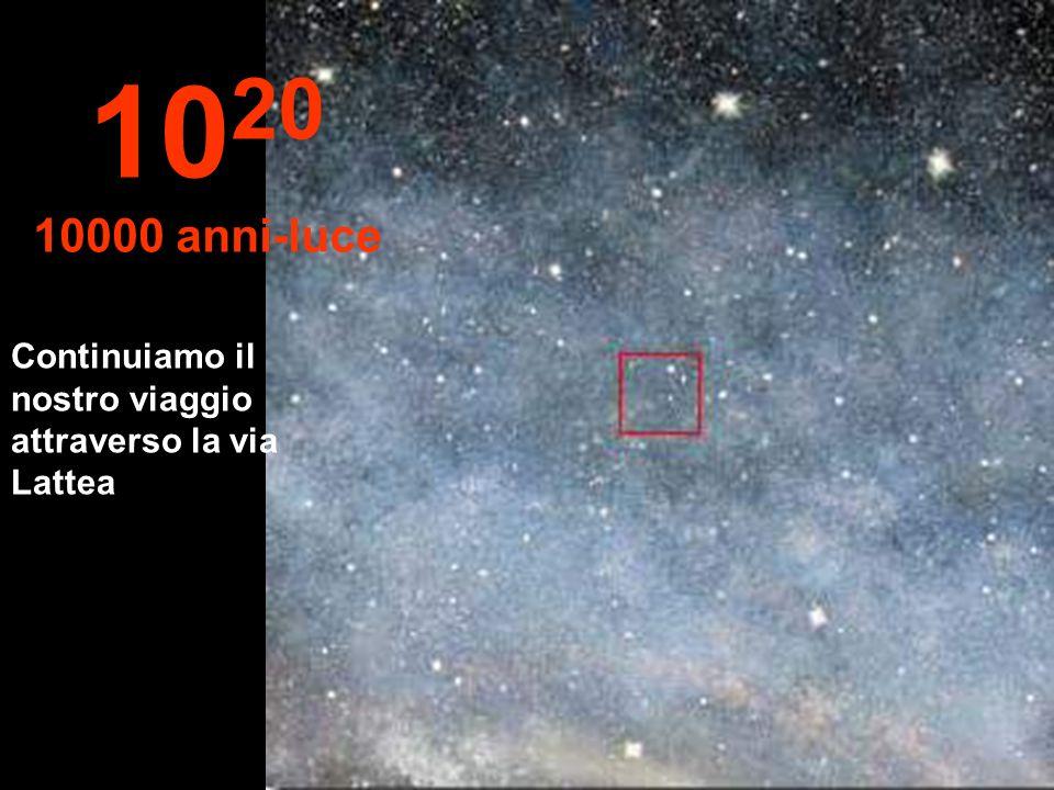 Continuiamo il nostro viaggio attraverso la via Lattea 10 20 10000 anni-luce