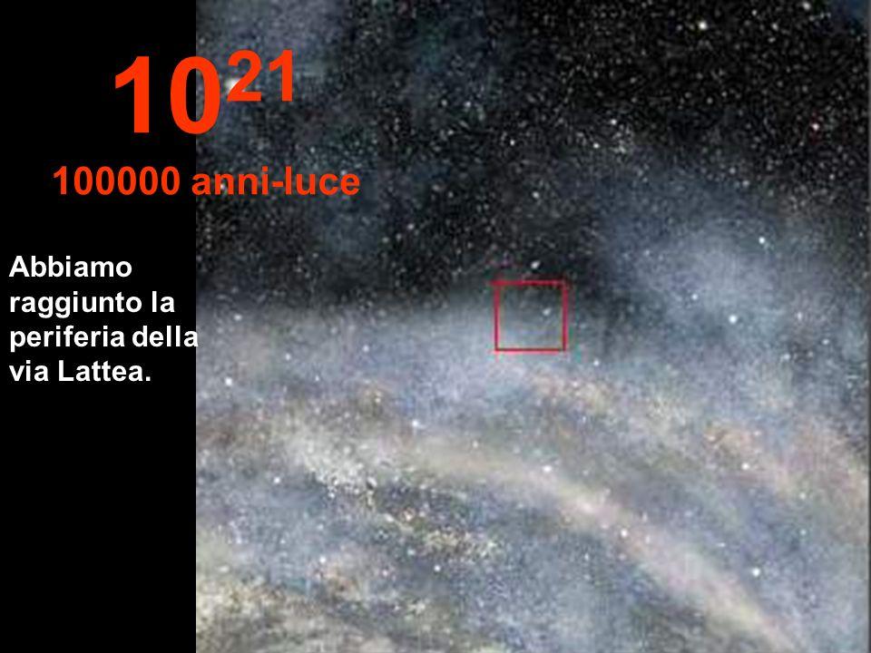 Abbiamo raggiunto la periferia della via Lattea. 10 21 100000 anni-luce