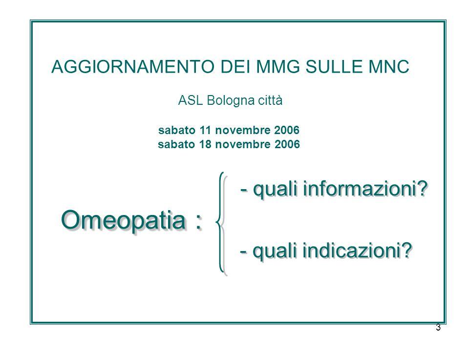 3 AGGIORNAMENTO DEI MMG SULLE MNC ASL Bologna città - quali informazioni.
