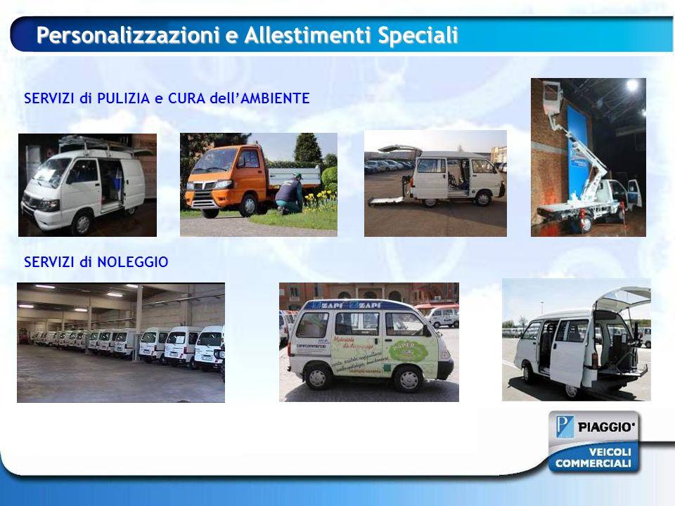SERVIZI di PULIZIA e CURA dellAMBIENTE SERVIZI di NOLEGGIO Personalizzazioni e Allestimenti Speciali