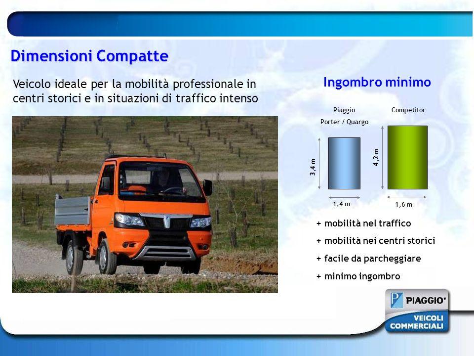 Dimensioni Compatte Veicolo ideale per la mobilità professionale in centri storici e in situazioni di traffico intenso + mobilità nel traffico + mobil
