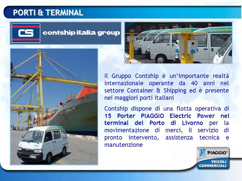 PORTI & TERMINAL Il Gruppo Contship è unimportante realtà internazionale operante da 40 anni nel settore Container & Shipping ed è presente nei maggio