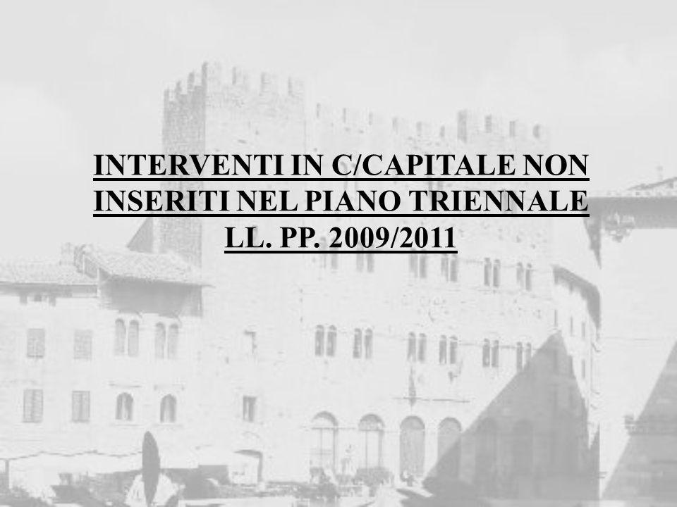 INTERVENTI IN C/CAPITALE NON INSERITI NEL PIANO TRIENNALE LL. PP. 2009/2011