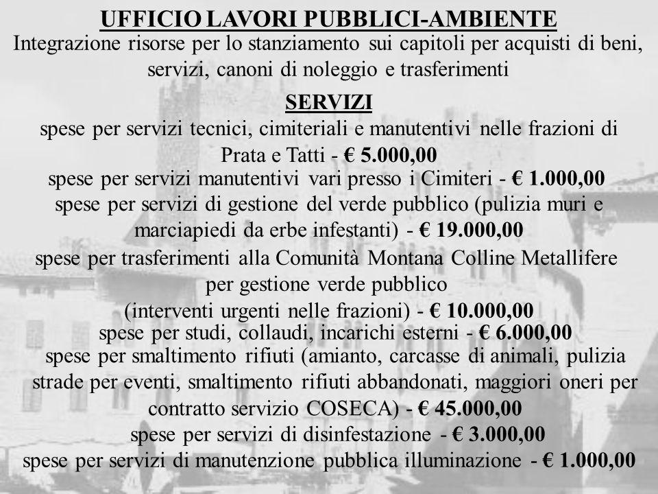 INTERVENTI IN C/CAPITALE INSERITI NEL PIANO TRIENNALE LL. PP. 2009/2011