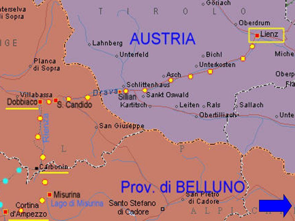 PISTA CICLABILE DA SAN CANDIDO A CORTINA 04 GIUGNO 2011 Itinerario facile dalla provincia di Bolzano a quella di Belluno, si passa lungo un bel sentiero in ghiaia ma piacevole in discesa e a tratti in piccole salite.
