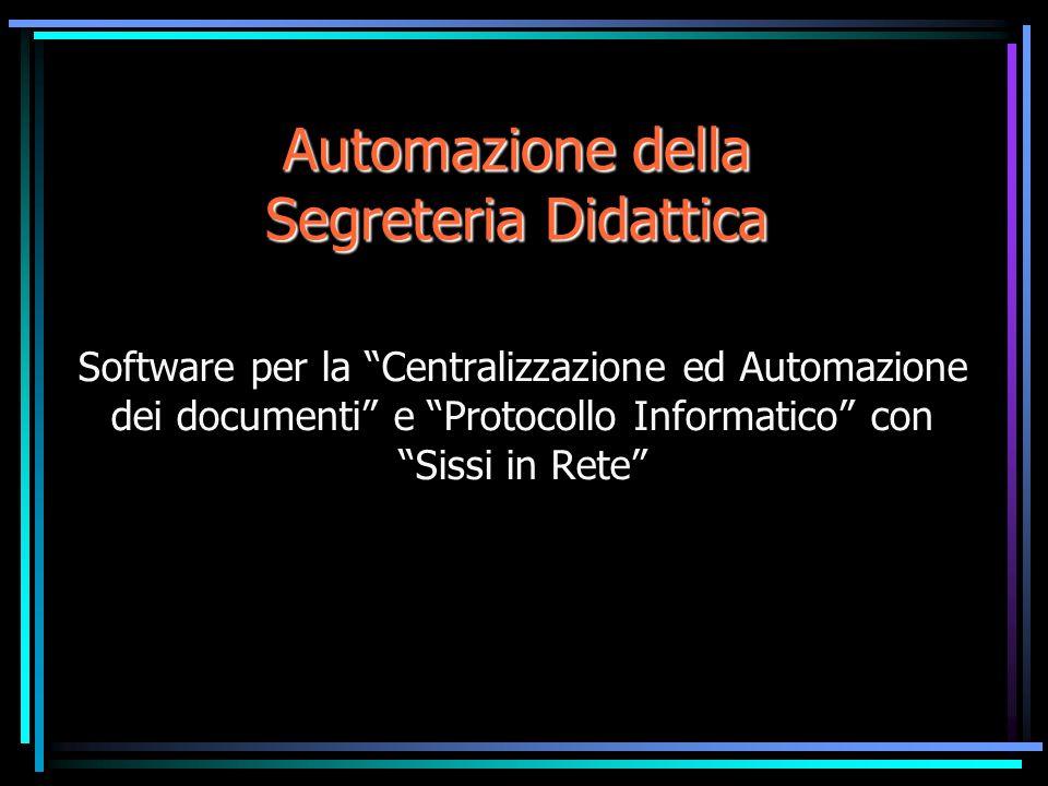 Sissi.Doc11 Punti di forza Funzionalità Apre tutti i Doc Generazione Doc Colleg.