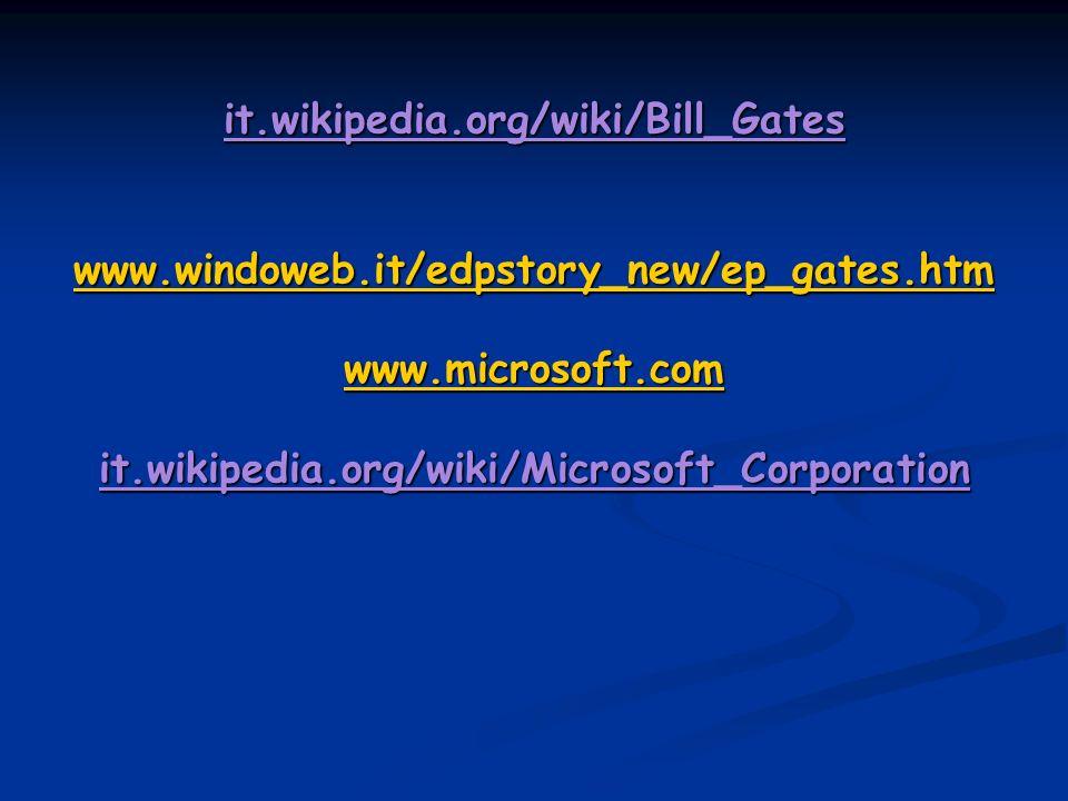 it.wikipedia.org/wiki/Bill_Gates www.windoweb.it/edpstory_new/ep_gates.htm www.microsoft.com it.wikipedia.org/wiki/Microsoft_Corporation www.windoweb.it/edpstory_new/ep_gates.htm www.microsoft.com www.windoweb.it/edpstory_new/ep_gates.htm www.microsoft.com