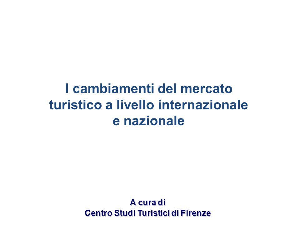 I cambiamenti del mercato turistico a livello internazionale e nazionale A cura di Centro Studi Turistici di Firenze