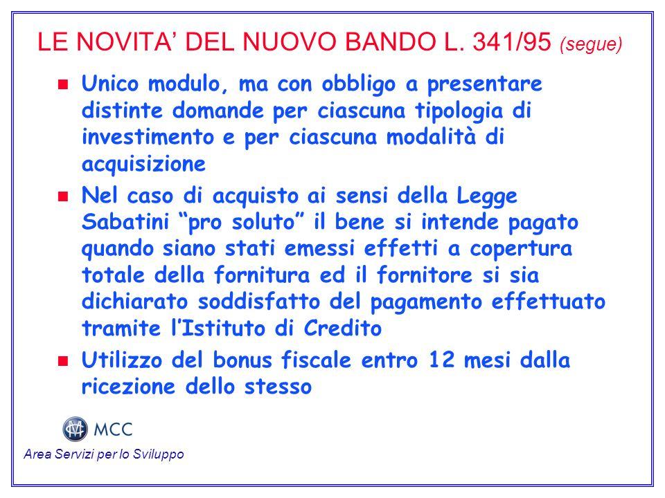 LE NOVITA DEL NUOVO BANDO L.