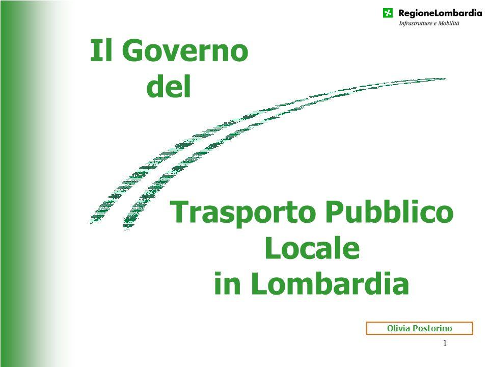 1 Il Governo del Trasporto Pubblico Locale in Lombardia Olivia Postorino