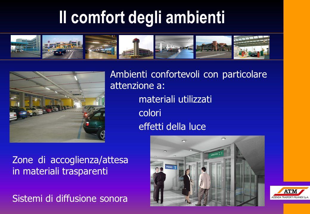 Il comfort degli ambienti Ambienti confortevoli con particolare attenzione a: materiali utilizzati colori effetti della luce Zone di accoglienza/attes
