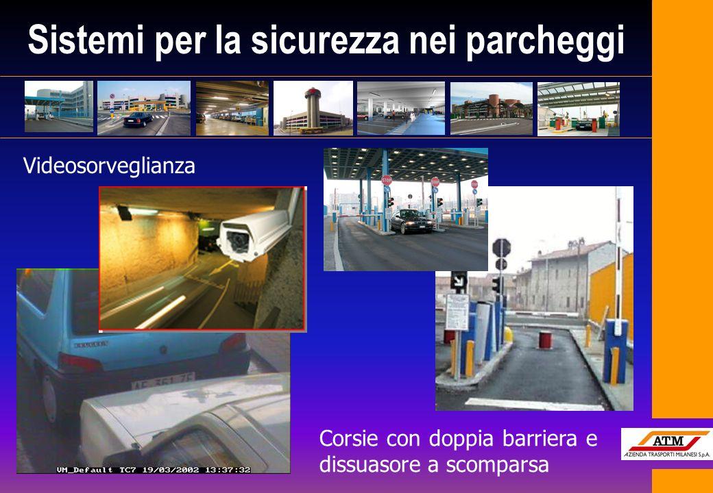 Sistemi per la sicurezza nei parcheggi Corsie con doppia barriera e dissuasore a scomparsa Videosorveglianza