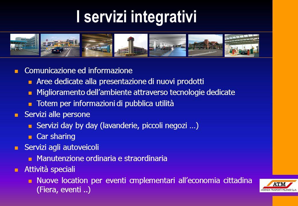 I servizi integrativi n Comunicazione ed informazione n Aree dedicate alla presentazione di nuovi prodotti n Miglioramento dellambiente attraverso tec
