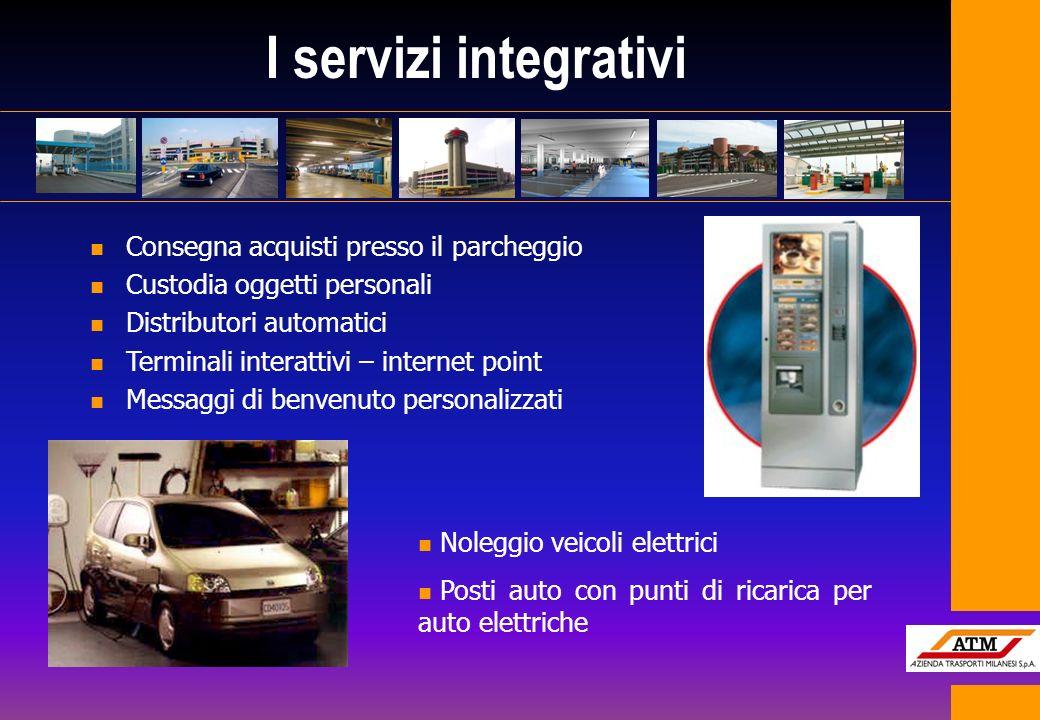 I servizi integrativi n Consegna acquisti presso il parcheggio n Custodia oggetti personali n Distributori automatici n Terminali interattivi – intern
