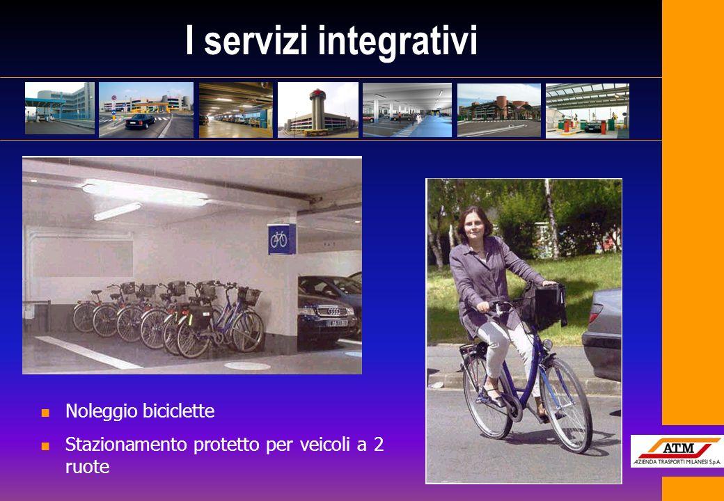 I servizi integrativi n Noleggio biciclette n Stazionamento protetto per veicoli a 2 ruote