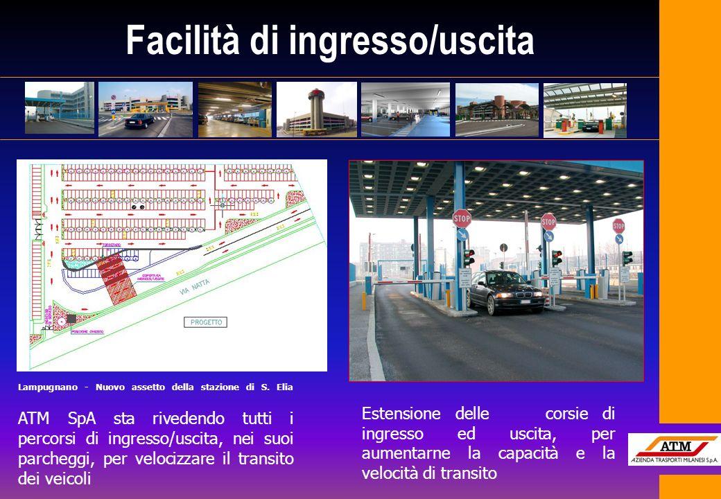 Facilità di ingresso/uscita Lampugnano - Nuovo assetto della stazione di S. Elia ATM SpA sta rivedendo tutti i percorsi di ingresso/uscita, nei suoi p