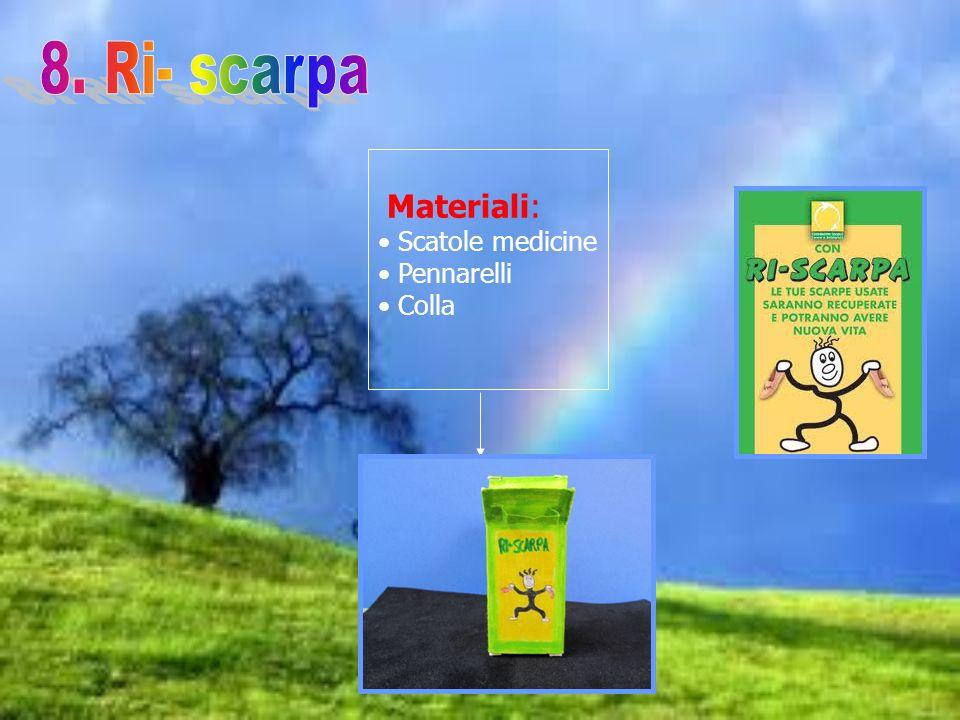 Materiali: Scatole medicine Pennarelli Colla