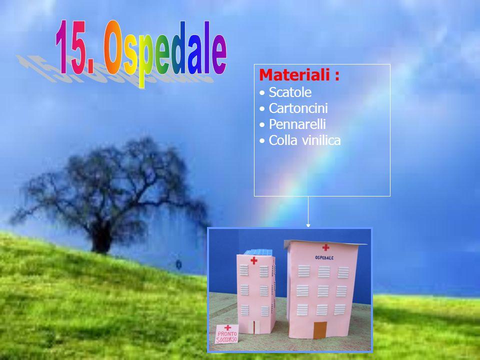 Materiali : Scatole Cartoncini Pennarelli Colla vinilica