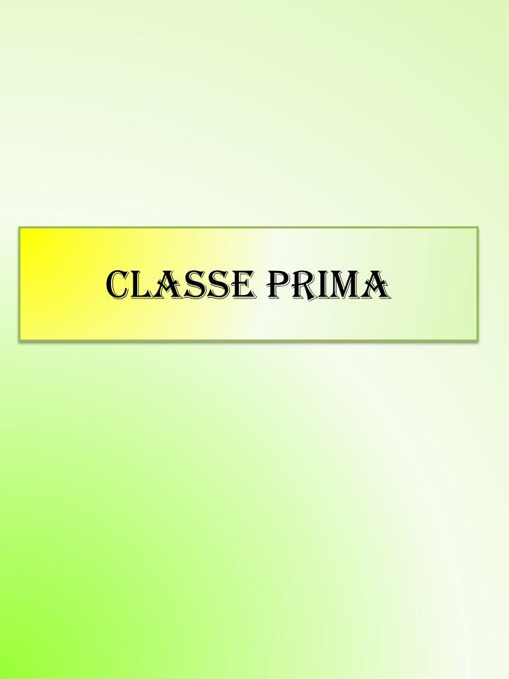 CLASSE PRIMA CLASSE PRIMA