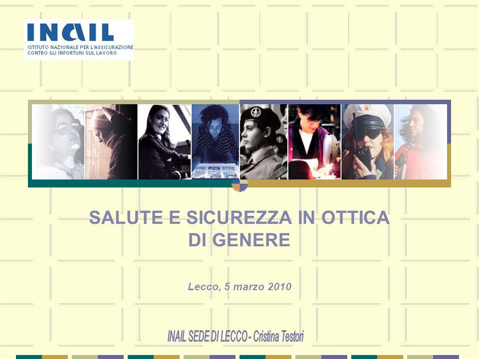 SALUTE E SICUREZZA IN OTTICA DI GENERE Lecco, 5 marzo 2010