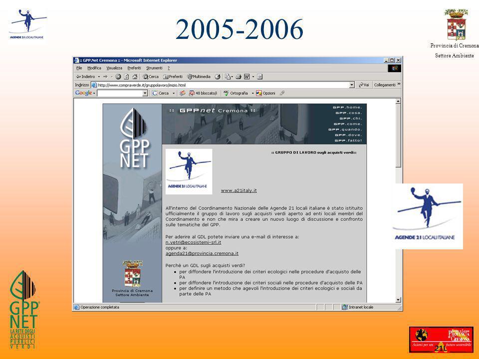 Provincia di Cremona Settore Ambiente 2005-2006