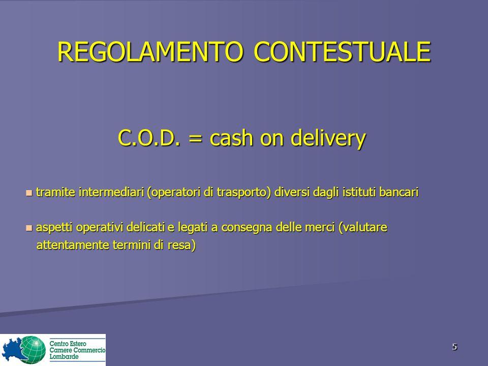 REGOLAMENTO CONTESTUALE C.O.D.