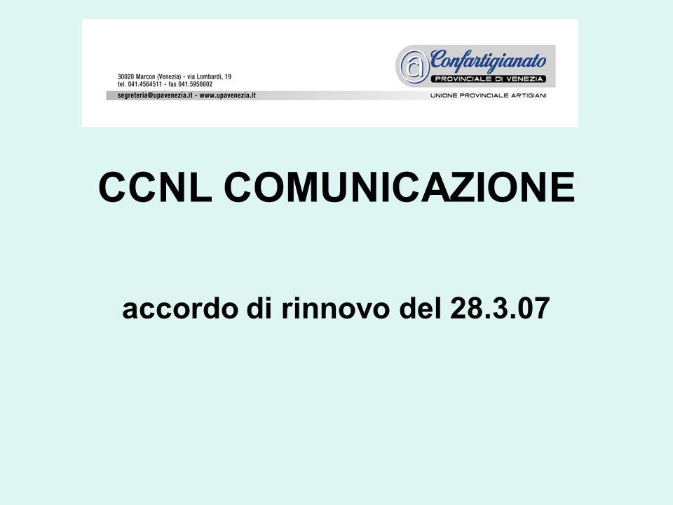 CCNL COMUNICAZIONE accordo di rinnovo del 28.3.07