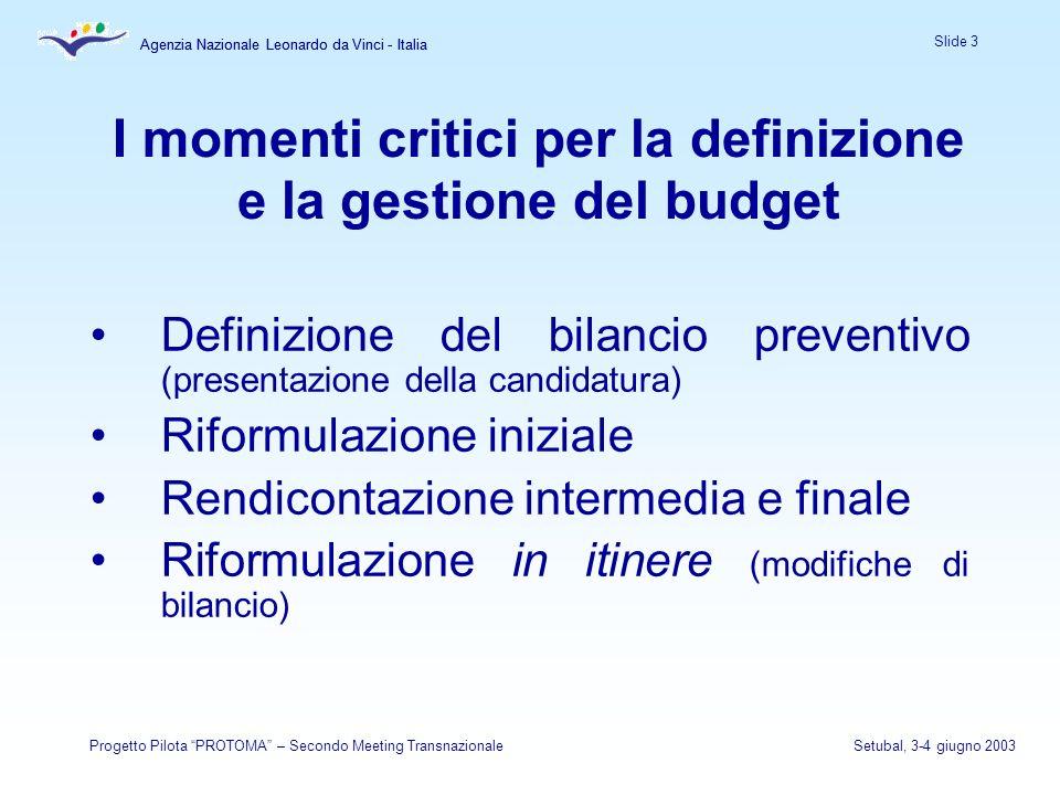 Agenzia Nazionale Leonardo da Vinci - Italia Slide 3 Agenzia Nazionale Leonardo da Vinci - Italia Progetto Pilota PROTOMA – Secondo Meeting Transnazio