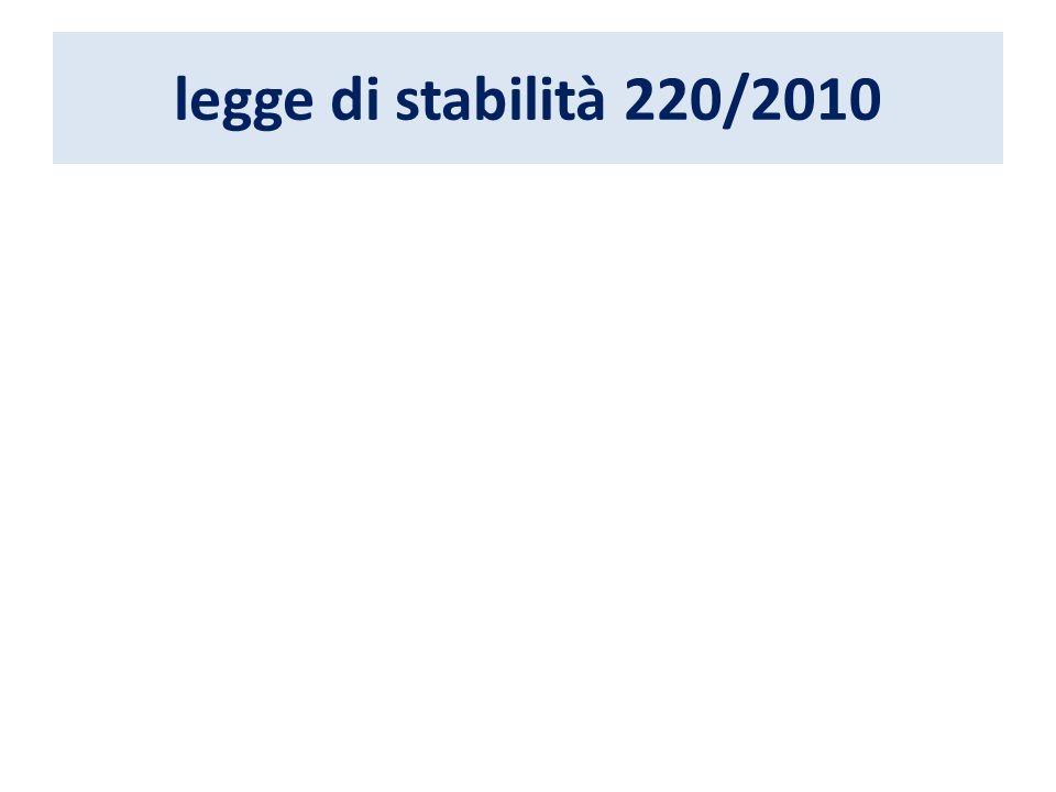 legge di stabilità 220/2010