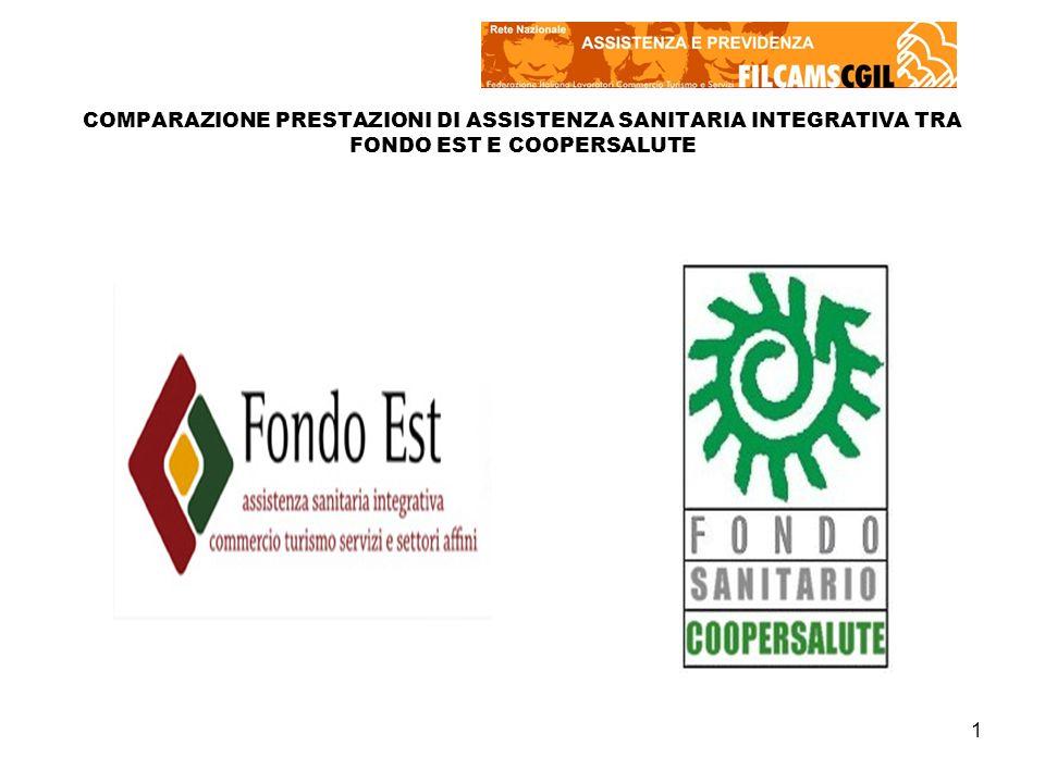 1 COMPARAZIONE PRESTAZIONI DI ASSISTENZA SANITARIA INTEGRATIVA TRA FONDO EST E COOPERSALUTE
