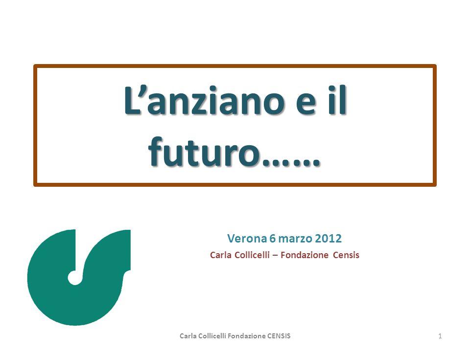 Lanziano e il futuro…… Verona 6 marzo 2012 Carla Collicelli – Fondazione Censis Carla Collicelli Fondazione CENSIS1