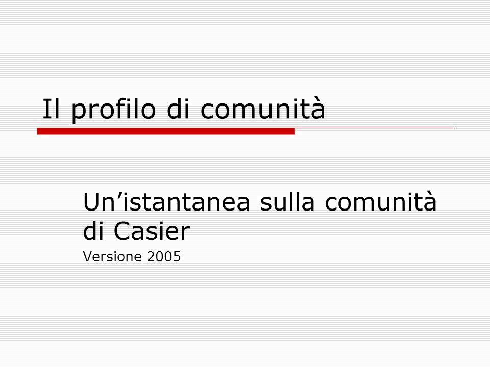 Il profilo di comunità Unistantanea sulla comunità di Casier Versione 2005