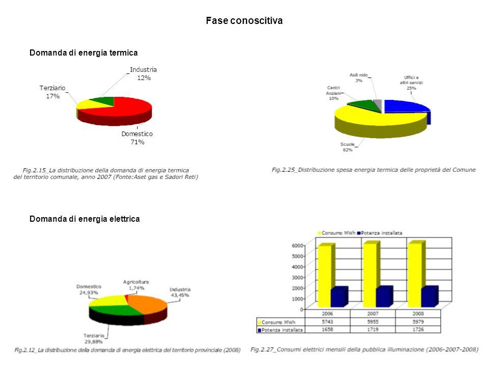 37 Fase conoscitiva Domanda di energia termica Domanda di energia elettrica